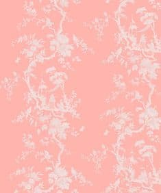 Chinoiserie flow velvet - Soft Coral SOLD OUT
